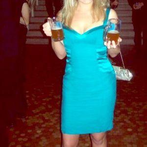 Turquoise dress from Aidan Mattox